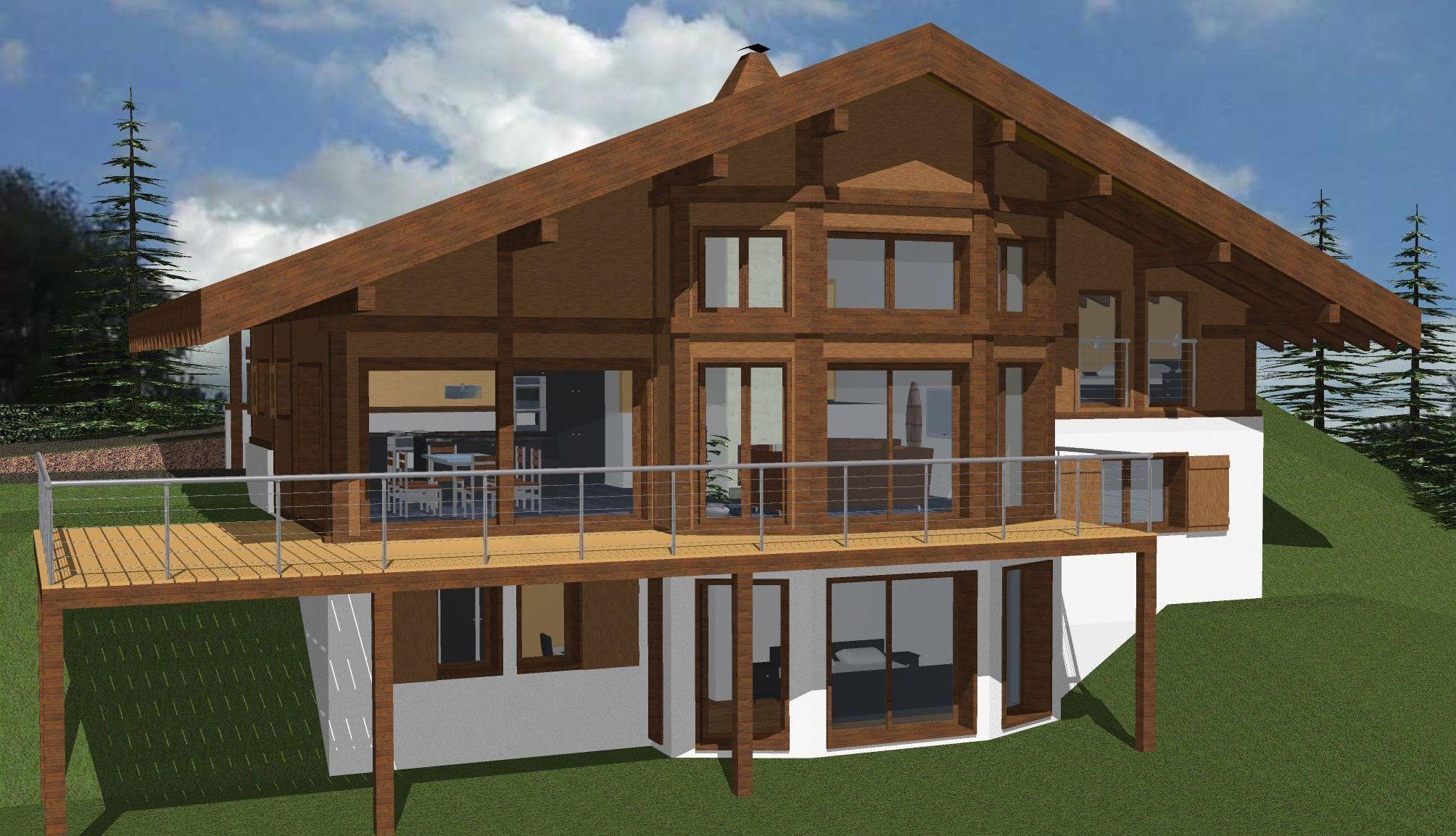 probatecimmo objet a construire chalet demi niveaux. Black Bedroom Furniture Sets. Home Design Ideas